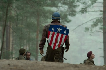 Captain America's first shield as seen in Captain America: The First Avenger, image credit Paramount Pictures